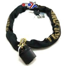 Chain & Lock 1.1 Mtr x 10mm Security Anti Theft Motorbike Moped Quad